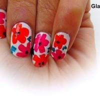Tropical Nail Art DIY flowers