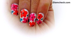 Tropical Nail Art DIY – Easy and Quick Flower Nail Art