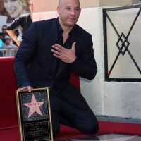 Vin Diesel at the Vin DIesel Walk of Fame Star Ceremony