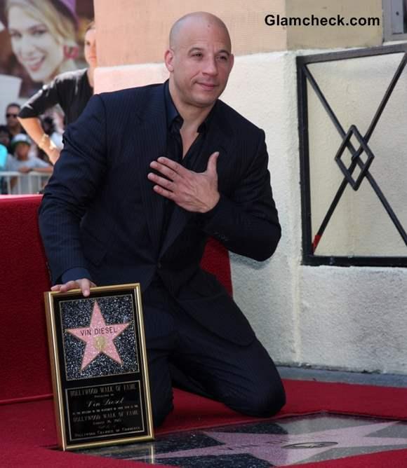 Vin Diesel at the Vin DIesel Walk of Fame Star Ceremony