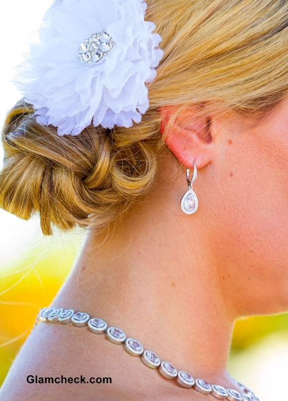 Wedding Hairstyle Flowers with Chignon