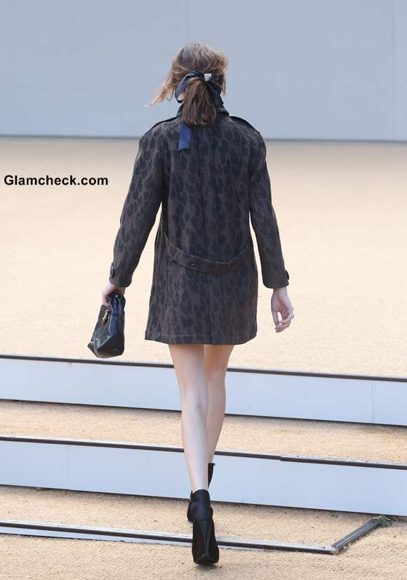 Alexa Chung at Burberry Prorsum SS 14 Fashion Show