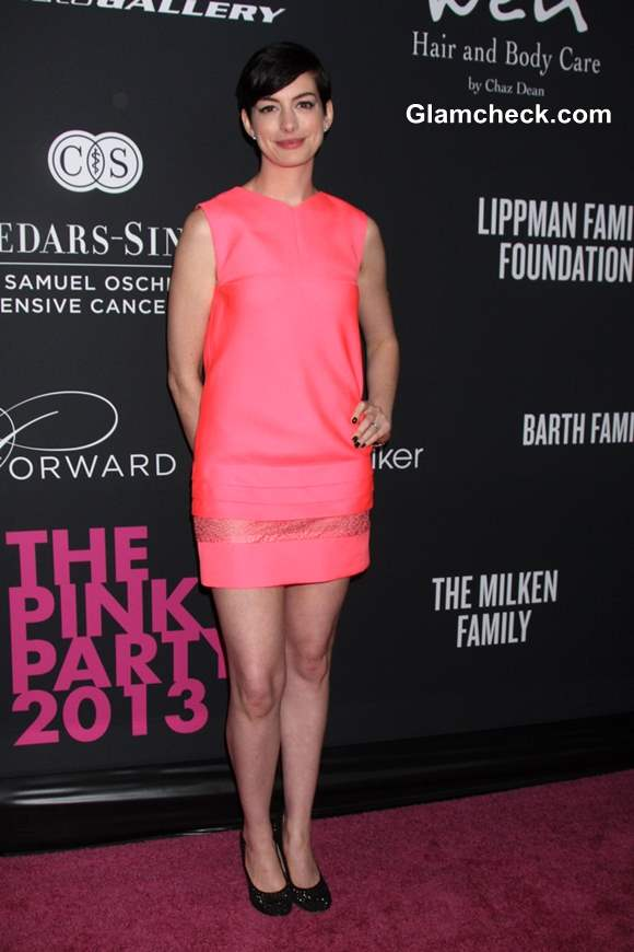 Anne Hathaway at Santa Monica 2013 Pink Party