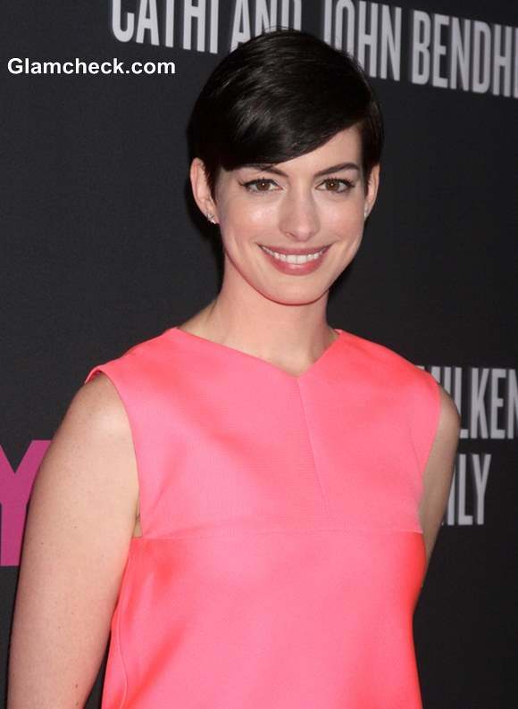 Anne Hathaway in Pixie Haircut 2013