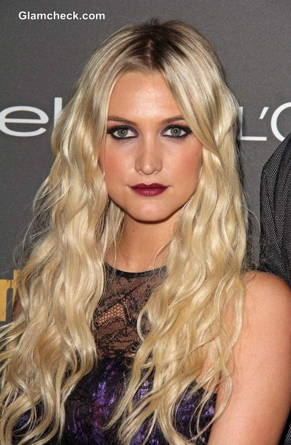Ashlee Simpson Plum Lips 2013