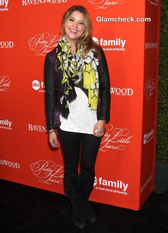 Ashley Benson printed scarf 2013
