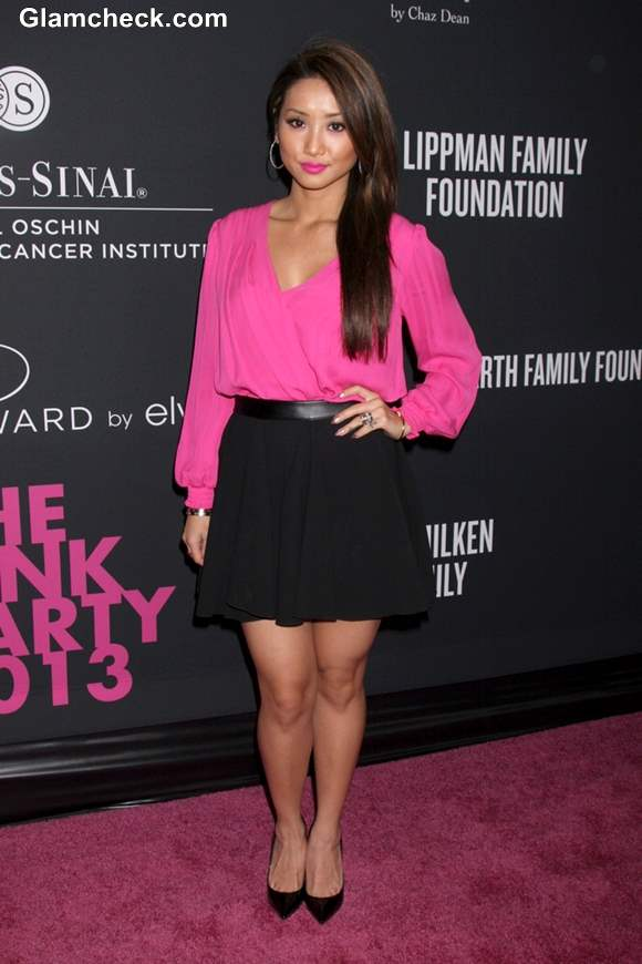 Celebs in pink outfits at santa monica 2013 pink party
