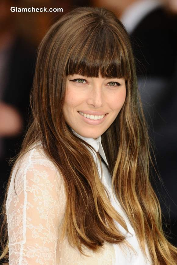 Celebrity Hair Color - Jessica Biel Turns Ombre