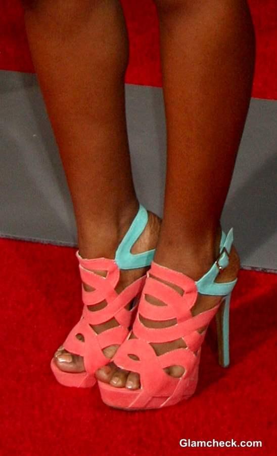 Color Block Strappy Heels