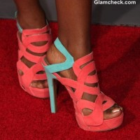 Color Blocked Strappy Heels