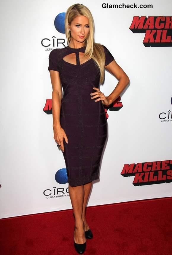 Cut-out Neckline Paris Hilton 2013