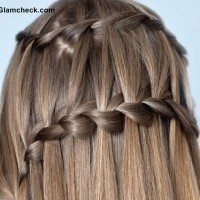 Double Waterfall Braid Hairstyle DIY
