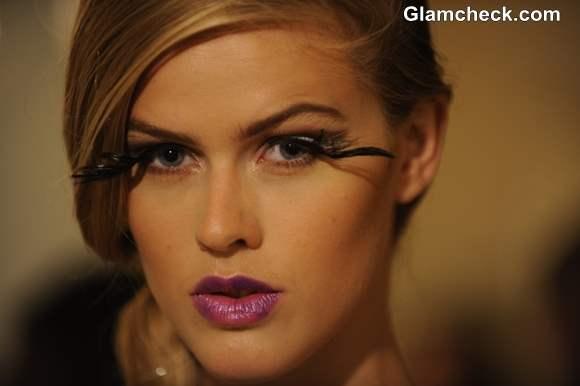 Dramatic Feather Eyelashes Makeup Trend S-S 2014 Pamela Gonzales