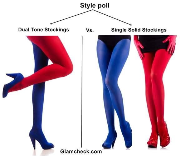 Dual Tone Stockings vs Single Solid Stockings