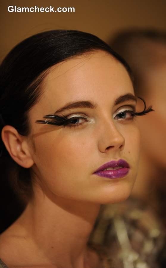 Eye Makeup Trend S-S 2014 – Dramatic Feather Eyelashes