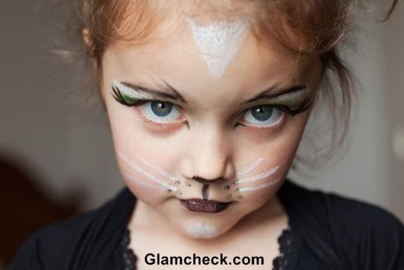 Feline  Halloween Costume makeup for kids