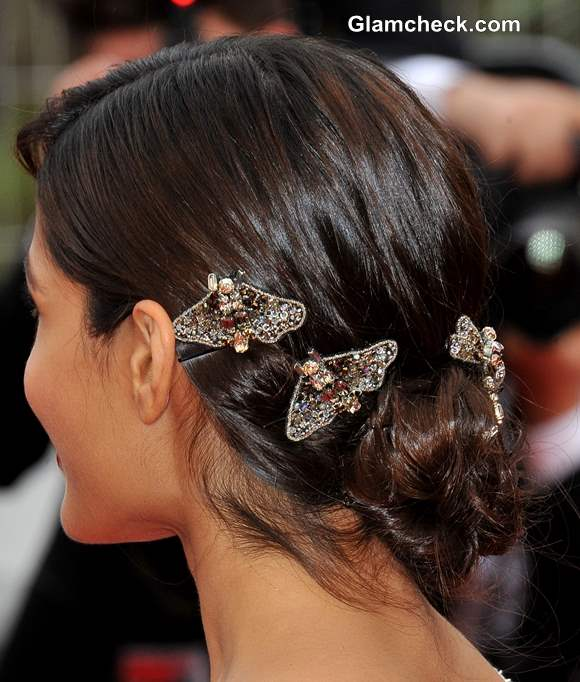 Hair Accessory Freida Pinto embellished Hair Clips