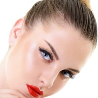Hair and Makeup for a Night on the Town - Red Lips Defined eyes