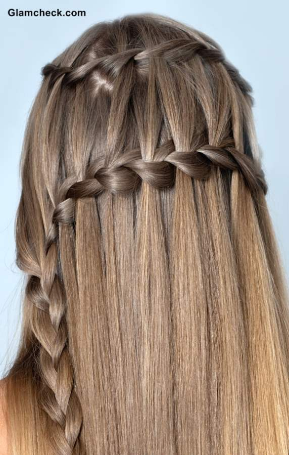 Fabulous How To Make Double Waterfall Braid Hairstyle Hairstyles For Women Draintrainus