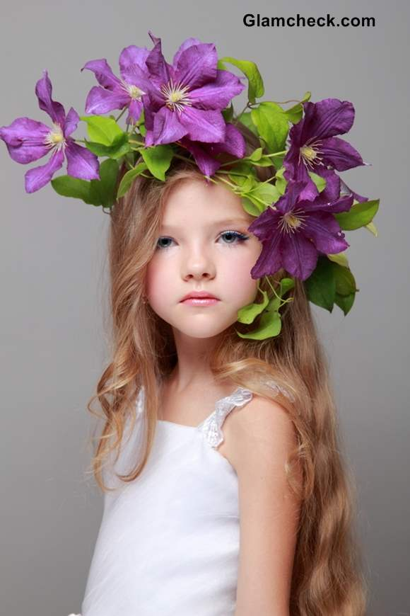 Flower Wreath Hairstyles For Flower Girls