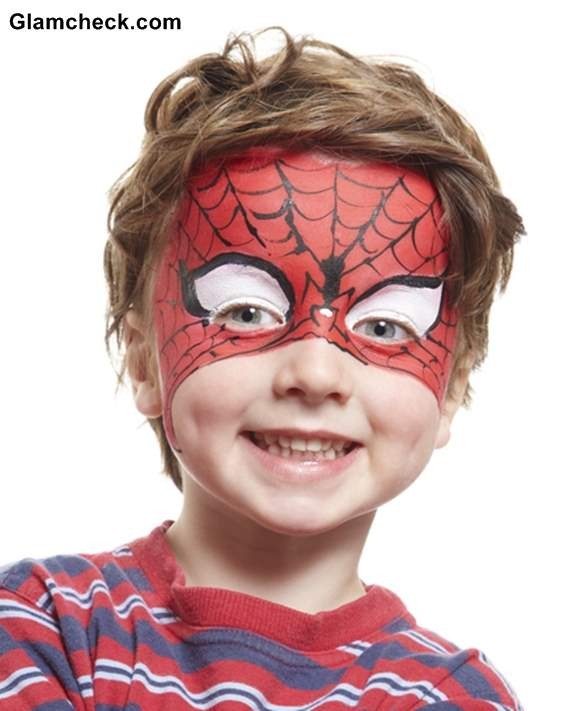 Halloween Costume Face Art for Little Boys - Spiderman