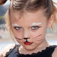 Halloween Costume makeup for kids Feline