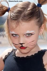 Halloween Costume makeup for kids Feline