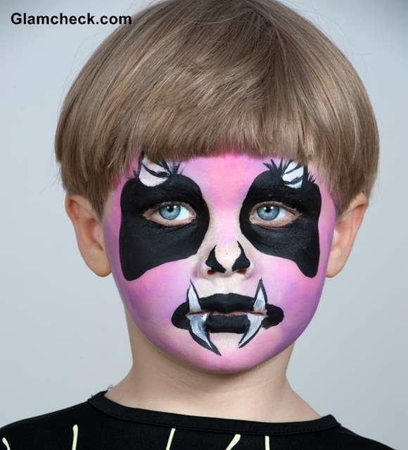 Halloween Devil Face Art for Little Boys