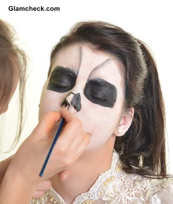 Gallery For &gt Scary Makeup Faces For Halloween - Diy Halloween Face Makeup