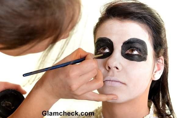 Halloween Scary Skull Face Makeup DIY