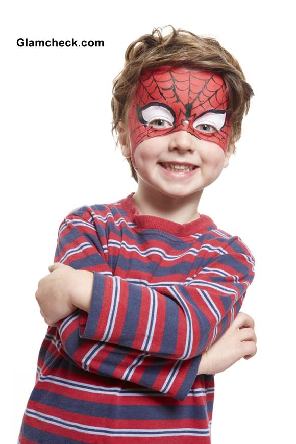 Halloween Super Hero Costume Face Art for Little Boys