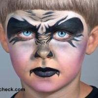 Halloween Vampire Face Art for Little Boys