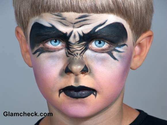 Halloween Vampire Face Art for Little Boys