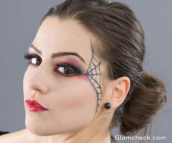Halloween Witch Eye Makeup Spider Web