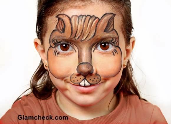 Halloween makeup for kids -Bunny