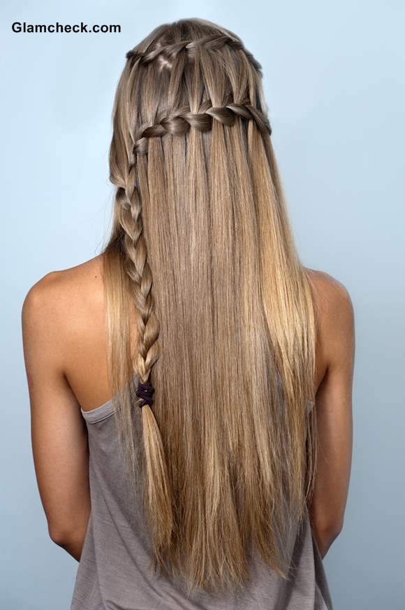 How To Make Double Waterfall Braid Hairstyle