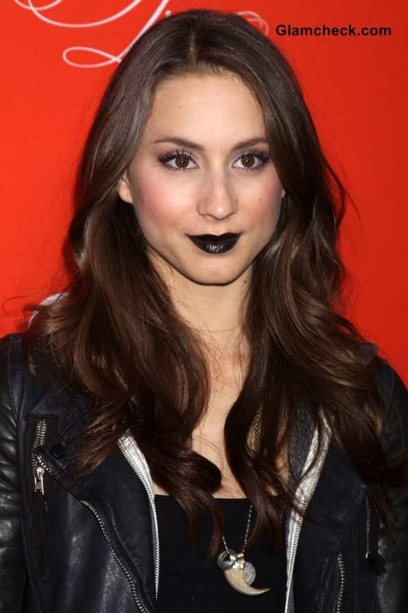 How to Sport Black Lipstick like Troian Bellisario
