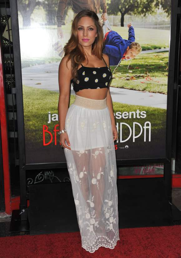 Jade Bryce 2013 Style Cropped Top with a Sheer Long Skirt
