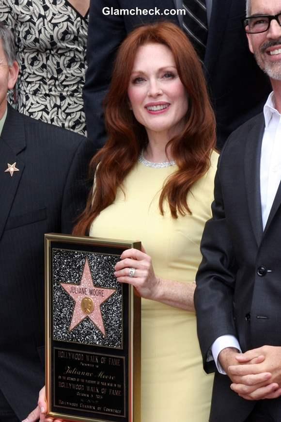 Julianne Moore Star on Hollywood Walk of Fame 2013