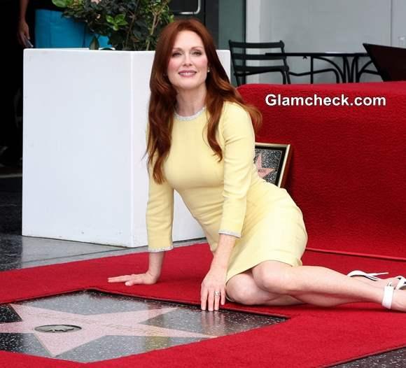 Julianne Moore Star on Hollywood Walk of Fame