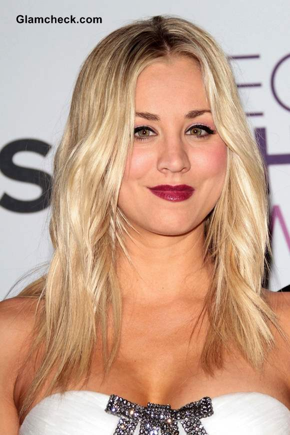 Kaley Cuoco Plum Lips 2013