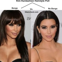 Kim Kardashian Hairstyle Poll – Bangs vs No Bangs