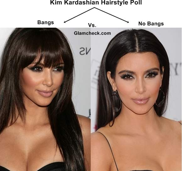 Kim Kardashian Hairstyle Poll Bangs