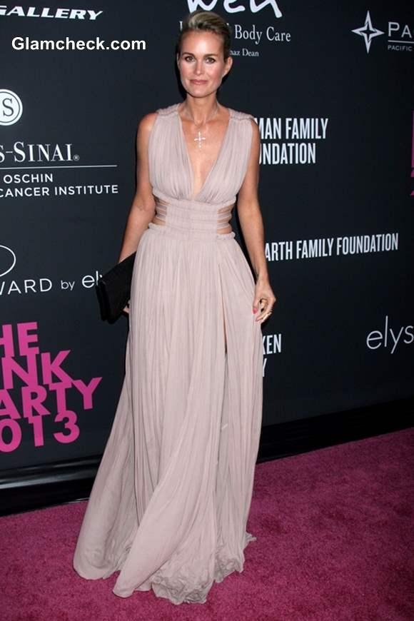 Laeticia Hallyday at Santa Monica 2013 Pink Party