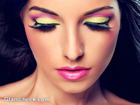 Light Pink and Mint Green Eye Makeup