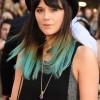 Lilah Parsons Dip Dyes Locks Emerald Green