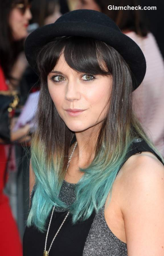 Lilah Parsons Dip Dyes hair Emerald Green
