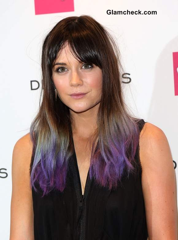 Lilah Parsons Purple Hair Color