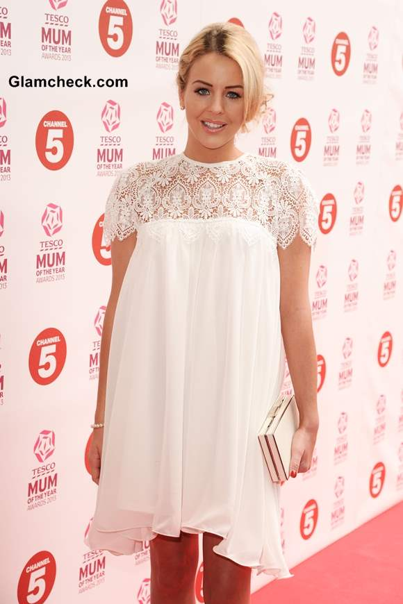 Lydia Bright in Babydoll white Lace Dress from Her SS 2013 Collection