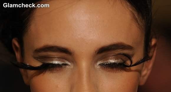 Makeup Trend S-S 2014 – Dramatic Feather Eyelashes Pamela Gonzales